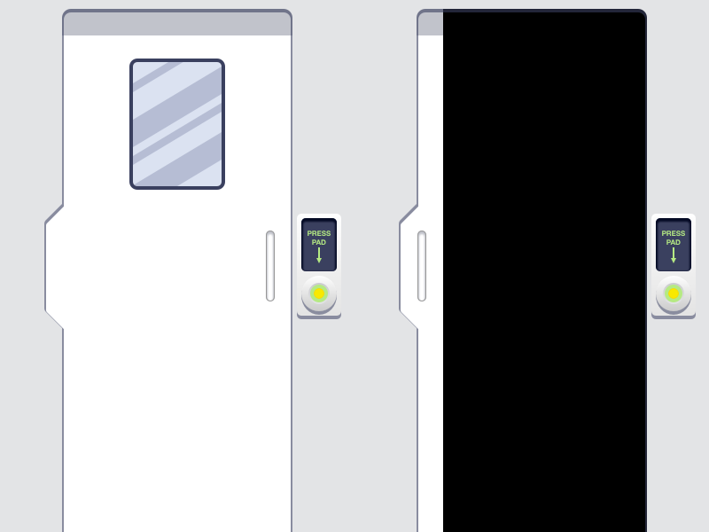 Generation 3 train doors